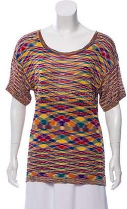 Missoni Patterned Short Sleeve Top