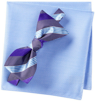 BROLETTO Fernando Stripe Bow Tie & Pocket Set $19.97 thestylecure.com