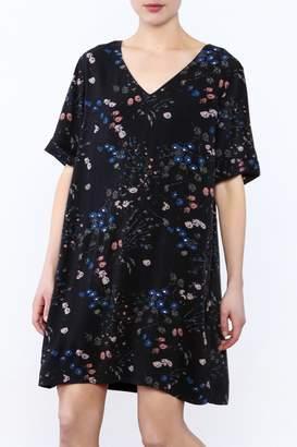 Gentle Fawn Black Oversized Floral Dress