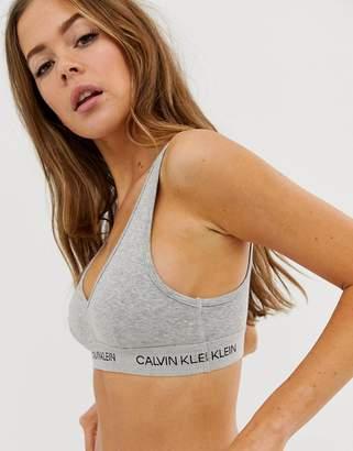 369744795f Calvin Klein Statement 1981 unlined bralette in grey heather