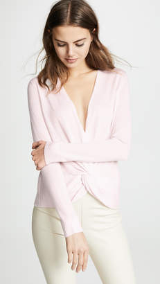 TSE Twist Front Sweater