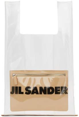 Jil Sander Transparent and Beige Market Tote