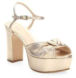 Schutz Thalyta Leather Ankle-Strap Sandals