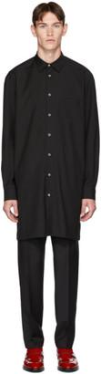 Paul Smith Black Wool Oversized Mayfair Shirt