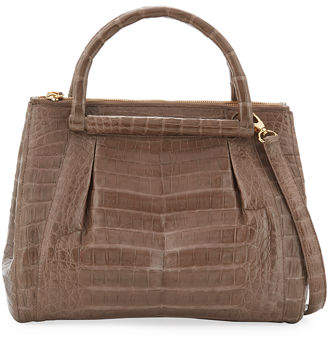 Nancy Gonzalez Medium Pleated Crocodile Tote Bag