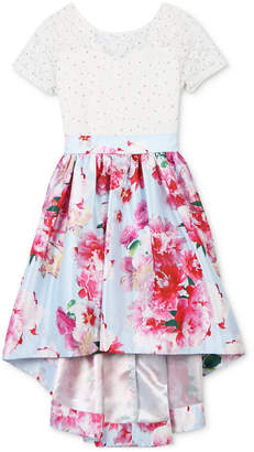 Speechless Floral-Print High-Low Hem Dress, Toddler Girls