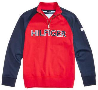 Tommy Hilfiger Big Boys Raglan Quarter-Zip Cotton Pullover