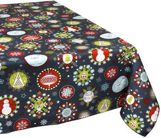 """Decorative Things Christmas Tablecloths Tablecloth Table Linens Christmas Dinner Table Decorations Folk 54"""" Square"""