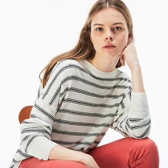 Lacoste (ラコステ) - リネンジャージー ボートネックシャツ