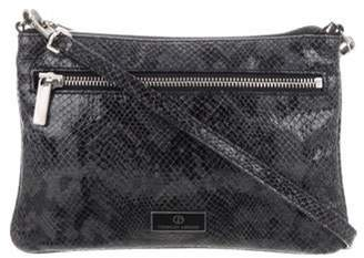Giorgio Armani Embossed Leather Crossbody Bag Black Embossed Leather Crossbody Bag
