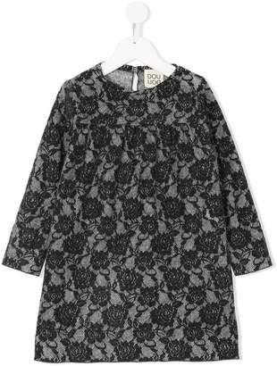 Douuod Kids floral lace print dress