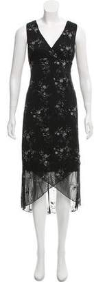 Christian Lacroix Surplice Neckline Midi Dress w/ Tags