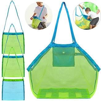 FineGood 4 Pack Beach Mesh Tote Bag