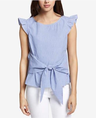 Sanctuary Cotton Ruffled-Sleeve Top