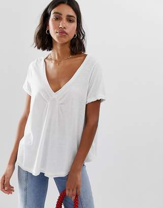 Free People All You Need v-neck t-shirt