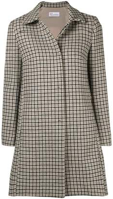 RED Valentino single-breasted checked coat