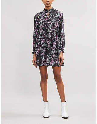 Ted Baker Duclin floral-print chiffon mini dress