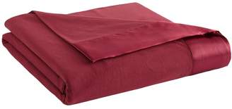 Micro Flannel All Seasons Year Round Satin Hemmed Sheet Blanket