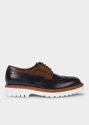 Paul Smith Men's Black And Tan Leather 'Vegas' Brogues