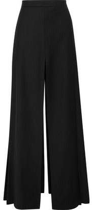 Chalayan Layered Pinstriped Twill Wide-Leg Pants