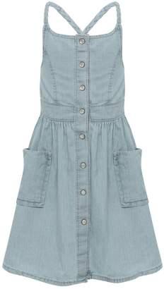 M&Co Minoti chambray pinafore dress