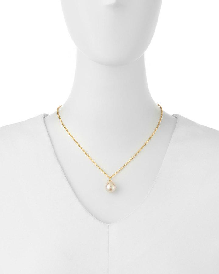 Majorica Pearl Drop Necklace