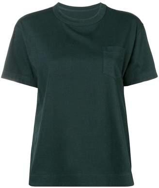 Sacai pleated panel T-shirt