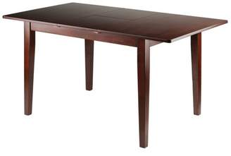 Winsome Anna Dining Table With Extension Top Walnut