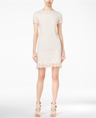Maison Jules Lace-Contrast Sheath Dress, Only at Macy's $99.50 thestylecure.com