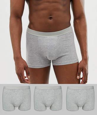 0023c44d0bfa ... New Look trunks in gray 3 pack