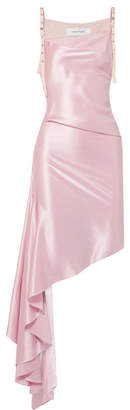 Marques' Almeida - Canvas-paneled Silk-satin Dress - Baby pink