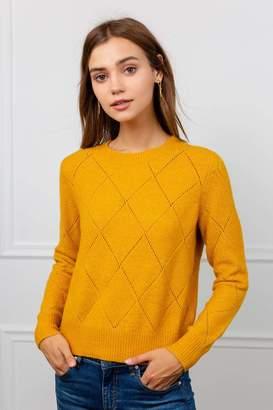J.ING Husk Mustard Yellow Knitted Sweater