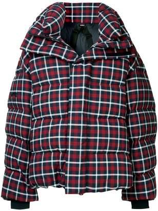 Juun.J checkered puffer jacket