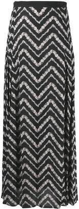Twin-Set chevron maxi skirt