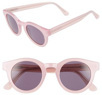 Women's Sunday Somewhere 'Soelae' 46Mm Round Sunglasses - Gloss Pink/ Pink/ Yellow $270 thestylecure.com