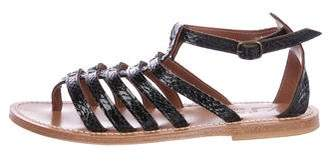 K Jacques St Tropez Embossed Cage Sandals