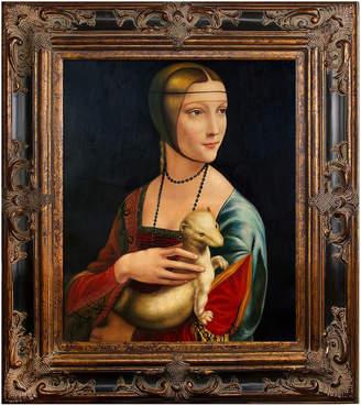 Leonardo Overstock Art Lady with an Ermine by Da Vinci (Framed Canvas)