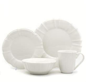 Chloé EuroCeramica 16 Piece White Dinnerware Set