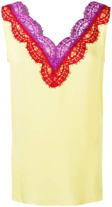 Emilio Pucci lace insert sleeveless blouse