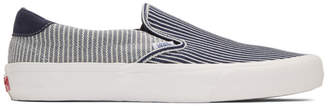 Vans Navy and White Striped Mt Vernon Slip-On 59 Vault LX Sneakers