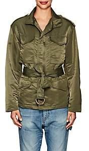 Nili Lotan Women's Easton Tech-Twill Jacket - Army Green