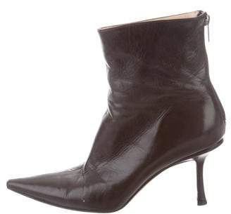 Jimmy Choo Pointed-Toe Ankle Boots