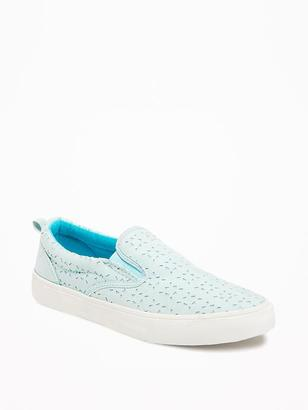 Perforated Slip-Ons for Girls $22.94 thestylecure.com