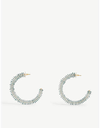 BaubleBar Caylie lucite beaded hoop earrings