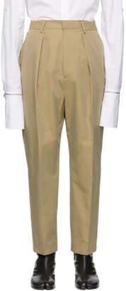 Juun.J Beige Pleated Trousers