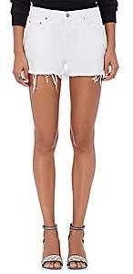 GRLFRND Women's Karlie Denim Cutoff Boyfriend Shorts - White Size 29