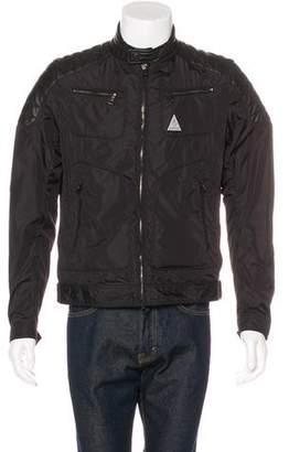 Moncler Salomon Leather-Trimmed Jacket w/ Tags