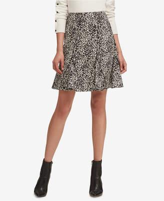 DKNY Printed A-Line Skirt