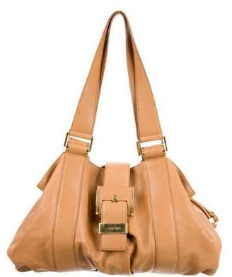 Michael Kors Leather Drawstring Tote