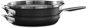 "Calphalon Premier 3-Pc. Space Saving Hard-Anodized Non-Stick 12"" Stack Cookware Set"